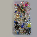 Bling Swarovski crystal cases Star diamond cover skin for iPhone 5 - Gold