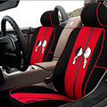 VV Lovers mesh Custom Auto Car Seat Cover Set - Black Red