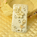 Bling Crystal Case Rhinestone Ballet Girl Cover for Samsung i9250 GALAXY Nexus Prime i515 - White