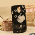 Bling Crystal Case Rhinestone Fish Cover for Samsung i9250 GALAXY Nexus Prime i515 - Black