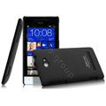 IMAK Cowboy Shell Hard Case Cover for HTC 8S - Black (High transparent screen protector)