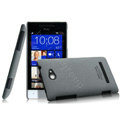 IMAK Cowboy Shell Hard Case Cover for HTC 8S - Gray (High transparent screen protector)