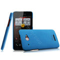 IMAK Cowboy Shell Hard Case Cover for HTC X920e Droid DNA - Blue (High transparent screen protector)