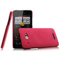 IMAK Cowboy Shell Hard Case Cover for HTC X920e Droid DNA - Rose (High transparent screen protector)