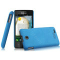 IMAK Cowboy Shell Hard Case Cover for Lenovo A600e - Blue (High transparent screen protector)