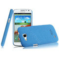 IMAK Cowboy Shell Hard Case Cover for Samsung I9260 GALAXY Premier - Blue (High transparent screen protector)