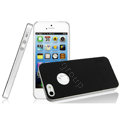 IMAK Matte double Color Cover Hard Case for iPhone 5 - Black (High transparent screen protector)