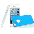 IMAK Matte double Color Cover Hard Case for iPhone 5 - Blue (High transparent screen protector)