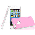 IMAK Matte double Color Cover Hard Case for iPhone 5 - Pink (High transparent screen protector)