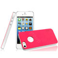 IMAK Matte double Color Cover Hard Case for iPhone 5 - Rose (High transparent screen protector)