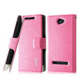 IMAK Slim leather Case holder Holster Cover for HTC 8S - Pink