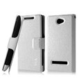 IMAK Slim leather Case holder Holster Cover for HTC 8S - White