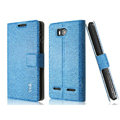 IMAK Slim leather Case holder Holster Cover for Huawei U8950D C8950D G600 - Blue