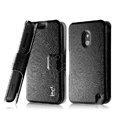 IMAK Slim leather Case holder Holster Cover for Nokia Lumia 620 - Black