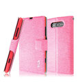 IMAK Slim leather Case holder Holster Cover for Nokia Lumia 820 - Pink