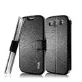 IMAK Slim leather Case holder Holster Cover for Samsung Galaxy SIII S3 I9300 I9308 I939 I535 - Black