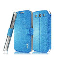 IMAK Slim leather Case holder Holster Cover for Samsung Galaxy SIII S3 I9300 I9308 I939 I535 - Blue