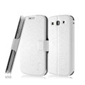IMAK Slim leather Case holder Holster Cover for Samsung Galaxy SIII S3 I9300 I9308 I939 I535 - White