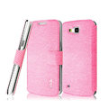 IMAK Slim leather Case holder Holster Cover for Samsung I9260 GALAXY Premier - Pink