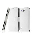 IMAK Slim leather Case holder Holster Cover for Samsung I9260 GALAXY Premier - White