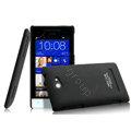 IMAK Ultrathin Matte Color Cover Hard Case for HTC 8S - Black (High transparent screen protector)