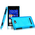 IMAK Ultrathin Matte Color Cover Hard Case for HTC 8S - Blue (High transparent screen protector)