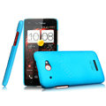 IMAK Ultrathin Matte Color Cover Hard Case for HTC X920e Droid DNA - Blue (High transparent screen protector)