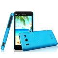 IMAK Ultrathin Matte Color Cover Hard Case for Huawei T8951 G510 - Blue (High transparent screen protector)
