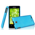 IMAK Ultrathin Matte Color Cover Hard Case for Lenovo A600e - Blue (High transparent screen protector)