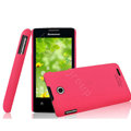 IMAK Ultrathin Matte Color Cover Hard Case for Lenovo A600e - Rose (High transparent screen protector)