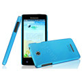 IMAK Ultrathin Matte Color Cover Hard Case for Lenovo A765e - Blue (High transparent screen protector)