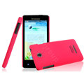 IMAK Ultrathin Matte Color Cover Hard Case for Lenovo A765e - Rose (High transparent screen protector)