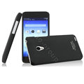 IMAK Ultrathin Matte Color Cover Hard Case for MEIZU MX2 - Black (High transparent screen protector)