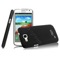 IMAK Ultrathin Matte Color Cover Hard Case for Samsung I9260 GALAXY Premier - Black (High transparent screen protector)