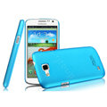 IMAK Ultrathin Matte Color Cover Hard Case for Samsung I9260 GALAXY Premier - Blue (High transparent screen protector)