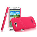 IMAK Ultrathin Matte Color Cover Hard Case for Samsung I9260 GALAXY Premier - Rose (High transparent screen protector)