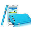 IMAK Ultrathin Matte Color Cover Hard Case for Samsung I939D GALAXY SIII - Blue (High transparent screen protector)