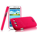 IMAK Ultrathin Matte Color Cover Hard Case for Samsung I939D GALAXY SIII - Rose (High transparent screen protector)