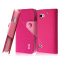 IMAK cross leather case Button holster holder cover for BBK vivo S6 S6T - Rose