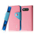 IMAK cross leather case Button holster holder cover for Nokia Lumia 820 - Pink
