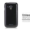 Nillkin Colourful Hard Case Skin Cover for Samsung I8262D GALAXY Dous - Black (High transparent screen protector)