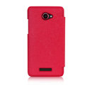 Nillkin England Retro Leather Case Holster Cover for HTC X920e Droid DNA - Red (High transparent screen protector)