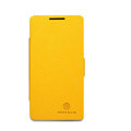Nillkin Fresh leather Case button Holster Cover Skin for HUAWEI C8813 - Yellow