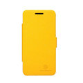 Nillkin Fresh leather Case button Holster Cover Skin for Huawei U8950D C8950D G600 - Yellow