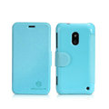 Nillkin Fresh leather Case button Holster Cover Skin for Nokia Lumia 620 - Blue