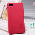 Nillkin Super Matte Hard Case Skin Cover for BlackBerry Z10 - Red (High transparent screen protector)