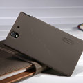Nillkin Super Matte Hard Case Skin Cover for Sony Ericsson L36i L36h Xperia Z - Brown (High transparent screen protector)
