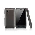 Nillkin Super Matte Hard Case Skin Cover for ZTE N880 U880 V880 N880S - Brown (High transparent screen protector)