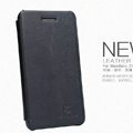 Nillkin leather Case Holster Cover Skin for BlackBerry Z10 - Black (High transparent screen protector)