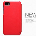 Nillkin leather Case Holster Cover Skin for BlackBerry Z10 - Red (High transparent screen protector)